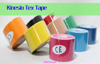 Wholesale 2014 Kinesio Tex Tape KINESIO TAPING METHOD Muscle Tapes Colorful Knee Pad Therapeutic Taping Athletic Tape Relieve Muscle Aches Joint Pain