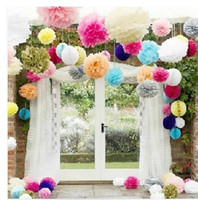 Wholesale 4 quot CM New Paper Flower Ball Peony Ball Garland Wedding Props Supplies Wedding Decoration ZH