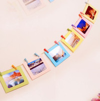 Wholesale 7 Inch DIY Wall Hanging Cute Colorful Paper Photo Frame for Pictures Children Gift