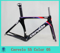 Cheap 2014 carbon frame Cervelo Bicycle Carbon Frame S5 Team VWD aero road carbon frame+fork+aero seatpost+clamp+headset size is: 48 52 54 56 5 05