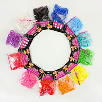 Cheap Wholesale-AAA+Rainbow Loom bands kit bracelet Colorful amazing gift for children single colors packing handmade DIY 200pcs bands+10 pcs S