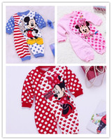 Wholesale Hot Sell For Baby Clothing Miki Minnie Mouse Romper High Quality Kids Boys Girls One piece Stars Bodysuit Cartoon Mouse Baby Rompers H1084