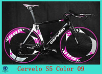 Wholesale 2014 Cervelo S5 Cycling Frameset Canada Brand S series Road Racing Bike Frame Full Carbon Fiber Bicycle Parts C10
