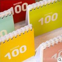 Copier Paper agenda day planner - 5 colors Days Cute Agenda Planner Organizer Calendar Binder Spiral Book for Study Plan Creative gift
