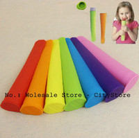Cheap Wholesale 5pcs lot Non-sticky silicone ice pop maker silicone ice pop mold Push Up Ice Cream Lolly Pop For Popsicle