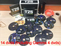 Cheap T25 Slimming Training Factory Saled 14 DVDs Focus T25 Fast Shipment Shaun T's Crazy Potent Set Alpha Beta Gamma Core Speed T25 Workout