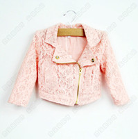 Wholesale Sample pc Retail baby girl kids lace coat shawl blazers hollow floral flower cardigan Coat Jacket shawl Poncho tutu tops outfits