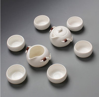 Wholesale 8pcs Chinese Porcelain Gongfu Set For Tea Ceremony China Tea Cups New Novelty Items Service Sale