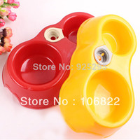 Cheap dogs dog shop pet supplies10pcs lot Pets Puppy Dogs Cats Automatic Water Drinking Feeding Basin Food Bowls New LX0127 Free shipp