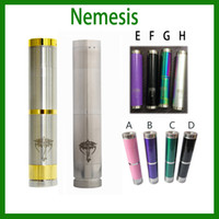 Cheap Nemesis mod stainless steel mechanical mod battery body mod E cigarette starter kit for EGO electronic cigarette via DHL 0207020