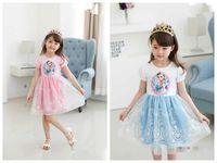 TuTu Summer A-Line 2014 Princess Dresses baby & kids summer Girl Dress Children girls' Clothing Elsa Frozen Dress Elsa Dress For Girl new