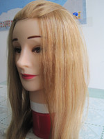 Wholesale Best Cosmetology Mannequin Head Human Hair for hair practice High quality