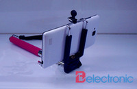 Cheap Wholesale cheap price !! extendable Photo Selfie Handheld Stick Monopod With Adajustable Phone Holder Stand for iPhone 5 5s Samsung camera