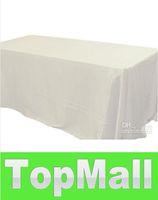 Wholesale JJ918 white color trestle table cloth satin tablecloth quot quot rectangle table cover