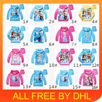 Wholesale 2014 cute baby clothes Children s Hoodies Sweatshirts Frozen Baby Girls Elsa Anna Princess Terry Hooded Jumper Cartoon Hoodies Outerwear
