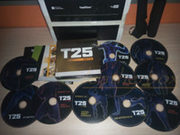 Cheap Factory Saled 10 DVDs Focus T25 Fast Shipment Shaun T's Crazy Potent Slimming Training Set Alpha Beta Core Speed Fast Shipping