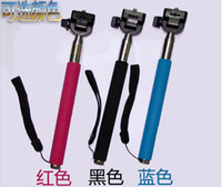 Cheap Self-shelf hand-held mobile phone Bluetooth remote control camera self-timer lever bracket Samsung Apple Self artifact Cell Phone MountsQ906