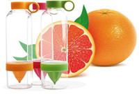 Wholesale 2014 hot sell Citrus Zinger Fruit Infusion Water Bottle Citrus Zinger Water Bottle with Citrus Juicer Lemon cup DHL