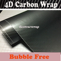 Dark Gray 4D Carbon Fiber Vinyl Like realistic Glossy Grey Carbon Fibre Foile For Car wrapping With Air Bubble Free Size 1.52x30m 5x98ft