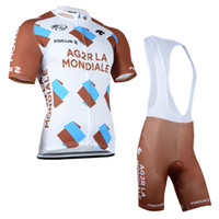 Cheap 2014 AG2R La Mondiale Tour de france cycling short sleeve jersey and bib shorts