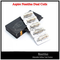 Cheap Original Aspire Nautilus Dual Coils Replacement Coils for Aspire Nautilus Atomizer for Electronic Cigarette E Cigarette E Cig Kits Instock
