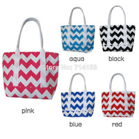 Wholesale Chevron diaper bag with zipper closure Black zig zag medium weekender Made to Order