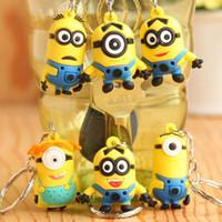 Wholesale Children Toy Despicable me pvc cartoon figure key chain Pendant Key Rings Kids Gift