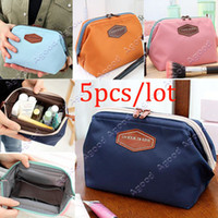 Wholesale 5pcs Cute Women s Lady Travel Makeup bag Cosmetic pouch Clutch Handbag Casual Purse SV002470