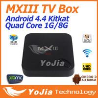 Wholesale 5pcs Original MXIII Android Amlogic S802 Quad Core MXIII TV BOX GB GB Google Android TV Box MX3 Support OTA