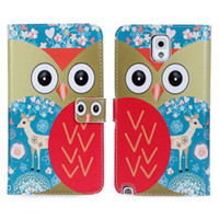 Cheap 2014 New Cute Owl Wallet Leather Cover Stand Case For Samsung Galaxy Note 3 N9000 Phone Cases