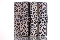 For Apple iPhone Leather  Leopard Grain PU Leather Wallet Pouch Case credit card For iphone 6 Air 6G 6TH 4.7 inch stand holster Plastic Cover skin 2pcs 5pcs 8pcs