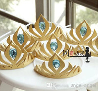 Wholesale Frozen elsa Queen s crown cosplay Coronation crown Headdress tiara gold yellow cm EVA