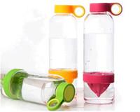 Wholesale 2015 Hotsell New Citrus Zinger Fruit Infusion Water Bottle Citrus Zinger Water Bottle with Citrus Juicer Lemon cup DHL Shipping