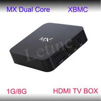 Wholesale XBMC preinstalled Android TV set top box Google Amlogic MX cheap Dual core GHz GB RAM GB hdmi av Best quality