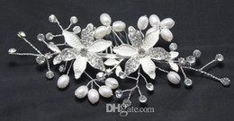 Wholesale In Stock High Quality Beautiful Crystal Pearl Stunning Wedding Bridal Hair Accessory Floral Tiaras Headpieces