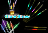 glow in dark products - Free EMS DHL Luminous Eco Friendly Material Party Decoration Bar Product Reusable Drinkng Glow Straw Wedding Disco Glow In the Dark