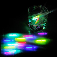 glow in dark products - Free Ship Luminous Eco Friendly Material Party Decoration Bar Product Reusable Drinkng Glow Straw Wedding Disco Glow In the Dark