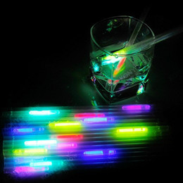 Wholesale Free Ship Luminous Eco Friendly Material Party Decoration Bar Product Reusable Drinkng Glow Straw Wedding Disco Glow In the Dark