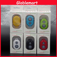 Wholesale Wireless Bluetooth Remote photo Camera controller Self timer Shutter for iPhone s Galaxy S4 S3 Note3 dhl Free With Retail Box