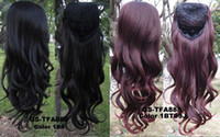 Wholesale 9 Colors Brand New Female Long Wavy Wig Half Wig Inches Heat Resistance Fiber