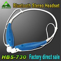 Wholesale HBS Wireless Sport Neckband Headset In ear Headphone Bluetooth Stereo Earphones Earphone Headsets for smart phone DHL