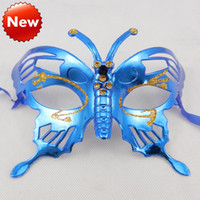 PVC adult butterfly costumes - New Butterfly Mask Halloween Mask venetian masquerade eye Party Mask Carnival Mardi Gras Dance Costume kid mask