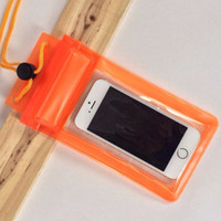 apple iphone lanyards - Transparent PVC Waterproof Pouch bag Underwater zipper Travel pocket case Neck lanyard for iphone s s Samsung Galaxy s4 s5 note