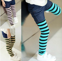 Wholesale Girls striped cotton leggings Korean boy pants Spring and Autumn girls pants factory direct