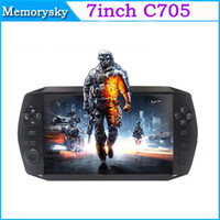 Wholesale 7inch Portable handheld game console Android Tablet PC M GB HDMI Dual Camera Support whatsapp Viber Touch Game Player