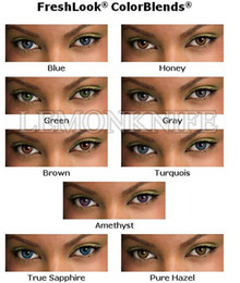 Wholesale 6pcs box contact len Colorblends freshlook cosmetic color lenses pack colors luxury lens yearly using contact lenses