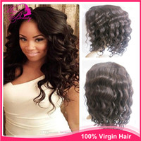 Wholesale 18 quot indian remy loose wave density Glueless Full lace wig amp Lace Front wigs Brazilian Virign human hair wigs