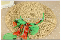 Cheap bowknot hat Best Summer Beach Hat