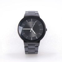 Wholesale S5Q All Black Steel Men s Quartz Casual Wrist Watch Fashion Rose Gold Time Point AAABMS