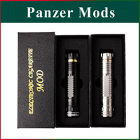 Cheap Black Hawk Mod Panzer Mod Clone Mechanical Stainless Panzer Mod Fit 18650 18350 18500 Battery for 510 Electronic Cigarettes